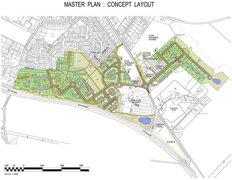 Mr L Daly. Concept Masterplan, Tain